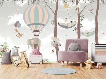 Фотообои для детей, воздушные шары, животные