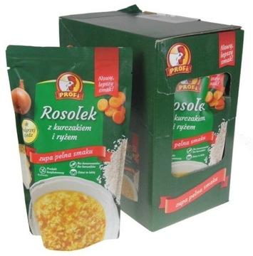 Бульонный суп с курицей и рисом 450 г Профи х 6