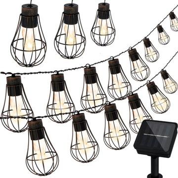 Гирлянда из светодиодных ламп солнечные панели садовые фонари