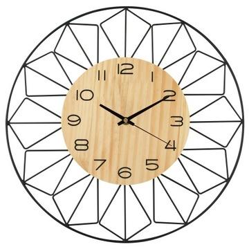 Настенные часы на стене Металл Дерево БОЛЬШОЙ ЛОФТ