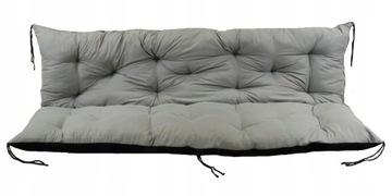 Садовая скамейка с подушками для поддонов 120x60x50