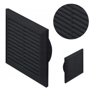Вентиляционная решетка Aventa квадратная, черная