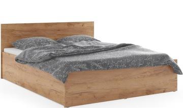 Кровать Белый Серый PANAMA 160x200 Матрас + Каркас