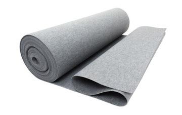 Серый фетр, жесткий 400гр 3мм, супер качество