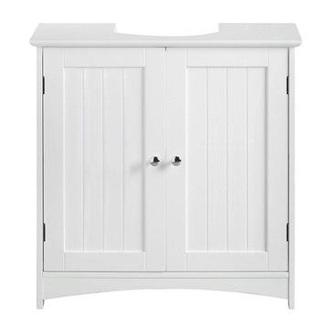 шкаф для ванной с двойными дверцами под умывальник