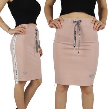 Spódnica ołówkowa różowa w Spódnice i spódniczki Moda