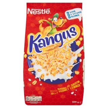 Nestle Kangus Сухие завтраки, мед 500 г