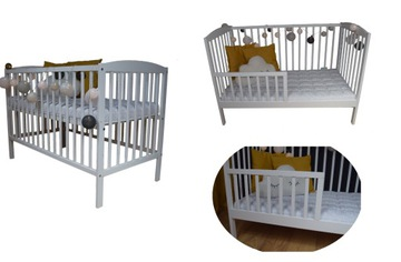 Детская кроватка OLA WHITE B / SZ + RAIL