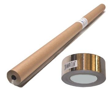 Алюминиевая фольга для сауны - 30 м2 + лента