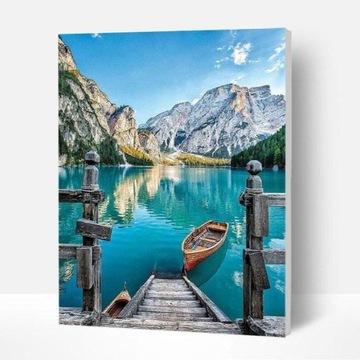Картина, НАПИСАННАЯ ЦИФРАМИ-Лодзь на озере