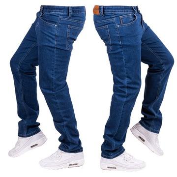 Spodnie męskie JEANSOWE klasyczne proste IAGO r.42