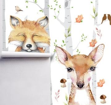 Фотообои детские лесная лиса лесной олень