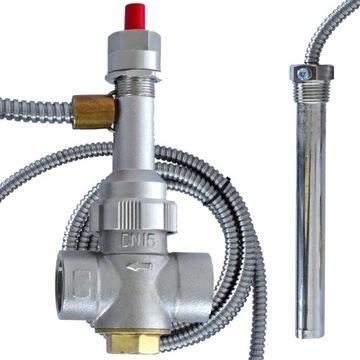 Термобезопасный клапан 95 ° C Камин и центральное отопление