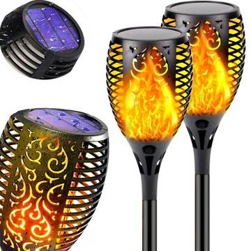 2x светодиодные солнечные лампы с эффектом фонарика FIRE FLAME