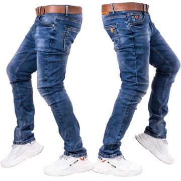 Spodnie męskie jeansowe klasyczne FAISAL r.33