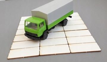 Плиты дорожные бетонные 300х150 80 шт 1:87 H0 B
