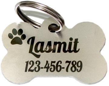 Идентификационный ярлык для Dog Cat Bone METAL