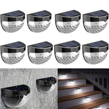 Водонепроницаемые садовые солнечные лестничные лампы 8 шт.