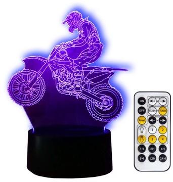 CROSS KTM NIGHT LIGHT 3D LED + ПУЛЬТ ДИСТАНЦИОННОГО УПРАВЛЕНИЯ в подарок