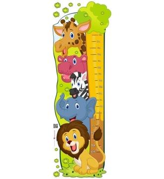 Детская наклейка - Измерение роста - Happy Zoo