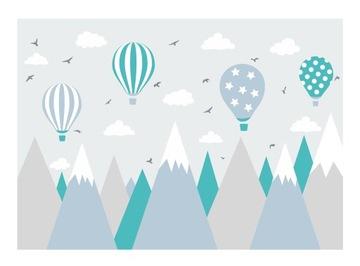 Фотообои Детские обои Облака Воздушные шары Горы