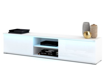 Белая тумба под ТВ KING High Gloss Acrylic LED