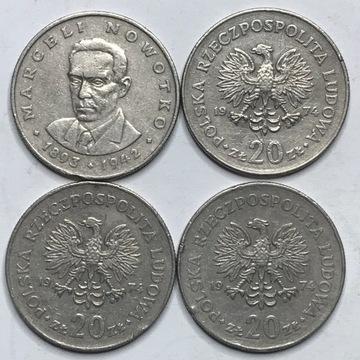 Монета 20 злотых Новотко 1974 орел