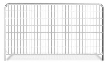 Забор временный овальный 1 м