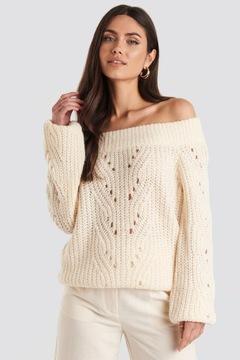 Sweter Dziury Odkryte Ramiona W Swetry Damskie Allegro Pl
