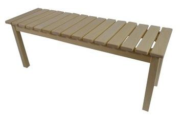 Скамья из осины, 116 см