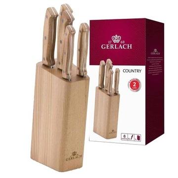 Набор из 5 ножей Gerlach Country в деревянном блоке