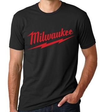 Koszulka Męska Czarna z logo MILWAUKEE - S