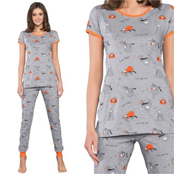 Italian Fashion Orso piżama kr/dł melanż XL