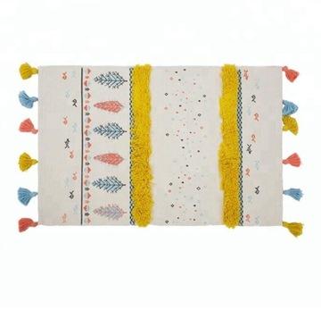 коврик детский с кисточками boho scandinavian 60x90