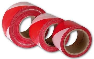 Лента сигнальная ТРЕД бело-красная 200м