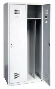 Шкаф двухдверный для одежды SUM 420W металлический