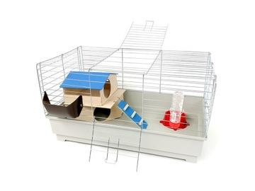 Клетка для кроликов 80см серая + Big House
