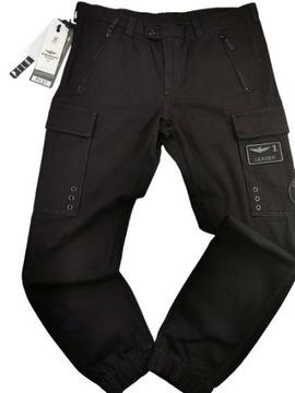 AERONAUTICA MILITARE spodnie bojówki rozm.52/L/XL