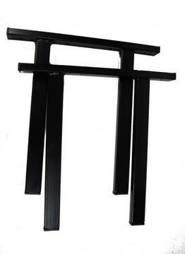 Ножки для садовой скамейки, профиль 4/2, черные, PL