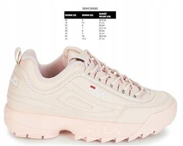 Fila disruptor pink rose welurowe sneakersy buty niskie moda