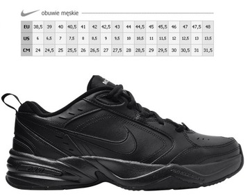 Nike Air Monarch Trainers In Black 415445 101 Black Buty męskie czarne w Asos