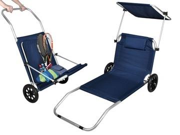 Шезлонг на колесах Складной навес в саду на пляже