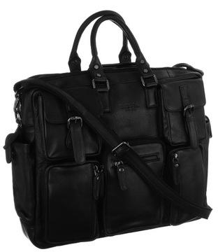 Męska rozbudowana torba na laptopa 15 Badura A4