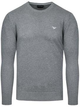 EMPORIO ARMANI sweter męski szary SW14 r.XL