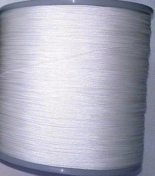 Гофрированный шнур, тонкий 0,8мм, белый 2м