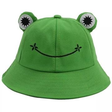 BUCKET HAT czapka KAPELUSZ RYBACKI ŻABA