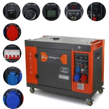 Электрогенератор 10 кВА 8 кВт 230/400 В ДИЗЕЛЬНЫЙ