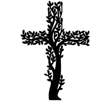 ДЕРЕВЯННЫЙ КРЕСТ на стену религиозный K2 30см