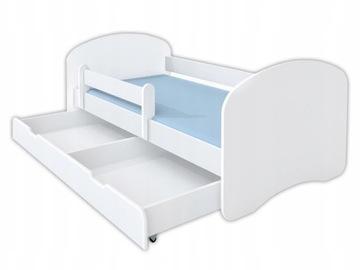 Детская кровать 160x80 с ящиком для матраса - белый