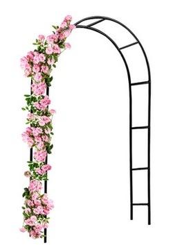 Садовая пергола. Арка для роз. Альпинист. Металлические цветы.